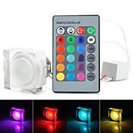 원격 컨트롤러와 RGB의 빛 LED 아크릴 천장 조명 - 흰색 (AC85-265V) 220lm 3w