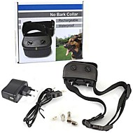 Waterproof Rechargeable LED Electric Anti Bark No Barking Dog Shock Vibration Collar for Small Medium Dogs