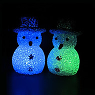 Snowman EVA Crystal Color-changing Night Light