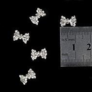 10szt 3d Rhinestone bow aluminiowe migać krawat akcesoria dekoracji paznokci Nail Art
