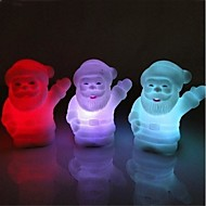 Beckon Father Christmas Design Plastic Night Light (Random Color x1pcs)