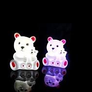 monivärinen karhu suunnittelu muovi yövalo (1kpl)