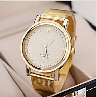 Women's Watch Fashionable Golden Case Alloy Band