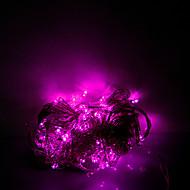 10m 100 leds kerst halloween decoratieve verlichting feestelijke strip verlichting-gewoon licht snaar licht roze (220v)