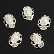 10szt owalne perła zabytkowe projektu 3d cyrkonie perełki sztuki dekoracji paznokci stop