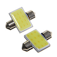 31mm 2W 100lm 6000k weiße LED-Leselampe für Auto (12 V DC, 2 Stück)