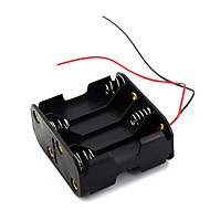 8Pcs AA Cells Battery (12V) Clip Holder Box Case Black