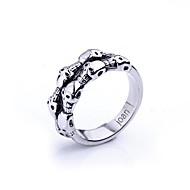 spersonalizowany prezent modne czaszki biżuteria ze stali nierdzewnej w kształcie pierścienia mężczyzn wygrawerowanym