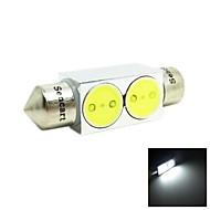 36mm 2W 2xcob 140-160lm 6500-7500k weißes Licht führte für Autoleselampe / Lizenz-Lampe (12 V DC)