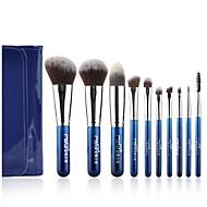 青色の袋で設定msq®10pcsブルーベリー夜のメイクブラシ