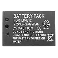 LP-E12 7.2v 875mah litium mini dv latautumassa Canon