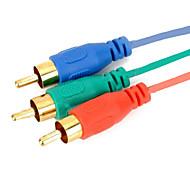 HDMI til 3RCA Component AV adapter kabel 1.5m 5 ft