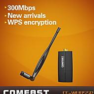 comfast® cf-wu855p 300Mbps 2.4GHz mini 300Mbps Wireless USB WiFi adattatore per antenna