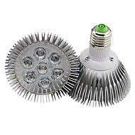 E26/E27 7W 7 High Power LED 700LM LM Warm White Dimmable LED Par Lights AC 220-240 V