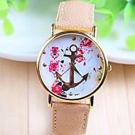 kvinners mote stil rose gull dial pu bandet kvarts analog armbåndsur (assorterte farger)