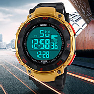 Men's Multifunctional Digital LCD Rubber Band Sporty Wrist Watch (Assorted Colors)