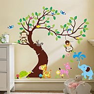 zooyoo® קוף נשלף על קיר מכירת מדבקות קיר עץ החם מדבקות לעיצוב הבית