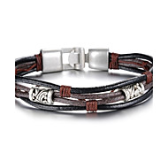 Fashion Leather Gothic Style Beatles Stainless Steel Bracelet (1 Pc) Christmas Gifts