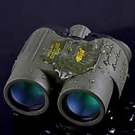BIJIA 8x 42 binocolo mm grandangolo / 114m impermeabile / 1000m centrale di messa a fuoco binocolo zoom / visione notturna verde / nero