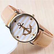Women's Fashion Anchor Rose Gold Dial PU Band Quartz Analog Wrist Watch (Assorted Colors)