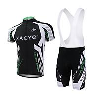 xaoyo polyester respirant cycles courts de douille dossard hommes le costume noir + blanc