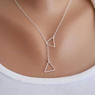 Női Nyaklánc medálok Triangle Shape Ötvözet Alap Divat minimalista stílusú jelmez ékszerek Ékszerek Kompatibilitás Parti Születésnap Napi