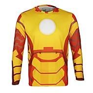 Jersey ( Amarelo ) - de Esportes Relaxantes/Ciclismo/Trilha - Unissexo - Respirável/Secagem Rápida/Design Anatômico/wicking Manga Comprida