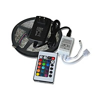 5M 300x3528 SMD RGB Flexible LED Light Strips +  24key Remote Control + 2A Power Supply (AC110-240V)
