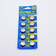 HUIFENG AG13 Button akku Watch (10kpl)