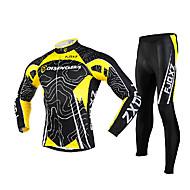 Conjuntos de Roupas/Ternos / Calças / Jersey (Amarelo / Preto) - de Ciclismo - Homens -Zíper Frontal / Vestível / Tapete 3D /