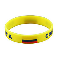 콜롬비아 깃발 본 2014 월드컵 실리콘 손목 밴드