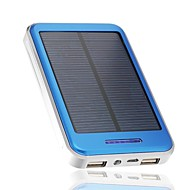 Jman 16000mAh Solar Panel Charger Power Bank Portable Dual USB Charger Backup External Battery Blue for iPhone6/6plus