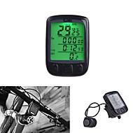 Ordinateur de vélo sans fil étanche 28 multifonction, odomètre tachymètre LCD rétroéclairé
