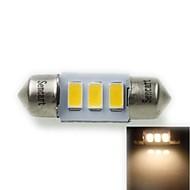31 milímetros (sv8.5-8) 1.5W 3x5730smd 90-120lm 3000-3500K luz branca quente levou lâmpada para lâmpada de placa de carro (ac12-16v)