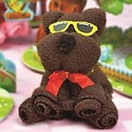 syntymäpäivä lahja karhu muoto kuitu luova pyyhe (random väri)