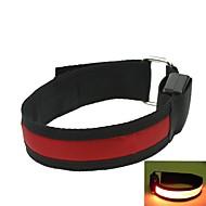 conduit le bras de lumière sangle de bande brassard rouge (2xcr2032)