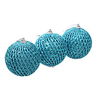 3.2inch sæt med 3 jul ornament tennis, pvc