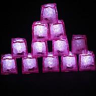 LED-Licht Touch glänzend rosa lce Würfel (12pcs)