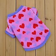 Camiseta - Inverno - Rosa - Casamento / Fantasias - de Malha polar - para Cães / Gatos - XS / S / M / L