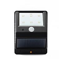 6-led pir lampione giardino parete del sensore di movimento di energia solare