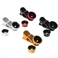 180 Degree Fish Eye and Wide Angle with Macro Lens 3 In One Photo Lens for iPhone (Assorted Colors)