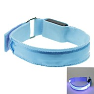 LED Light Color Lattice Arm Band Strap Armband Blue (2xCR2032)