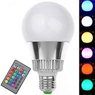 Ampoules Globe Commandée à Distance RGB E26/E27 7 W 1 LED Haute Puissance 350-400 LM AC 85-265 V