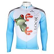 PALADIN® Cykeltrøje Herre Langt Ærme Cykel Åndbart / Hurtigtørrende / Ultraviolet Resistent Trøje / Toppe 100% Polyester DyremønsterForår