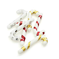 Cane Shaped Christmas Decorating Hang PVC,Set of 6