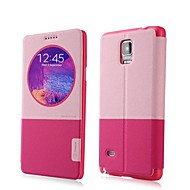 BASEUS Auto Sleep/Wake Up PC&PU Leather Full Body Case with Stand for Samsung Galaxy Note 4 (Assorted Colors)