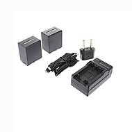 ismartdigi-Sony NP-FV100 x2 (3900mAh, 7.2V) kamerabatteri + eu plug + billaddare till CX700E / pj50e / 30e / 10e / cx180e / VG10E / FV70
