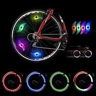4 pcs Luci bici , luci della rotella - 2 Modo 300 Lumens Colori che cambiano Batteria Ciclismo/Bicicletta Verde / Blu / Rosso Bicicletta