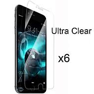 6 x ultra klar HD skjermbeskytter med pusseklut for iphone 6s / 6 pluss