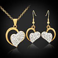 U7® 18K Gold Plated Austrian SWA Rhinestone Hearts Jewelry Sets Jewelery Gift For Women